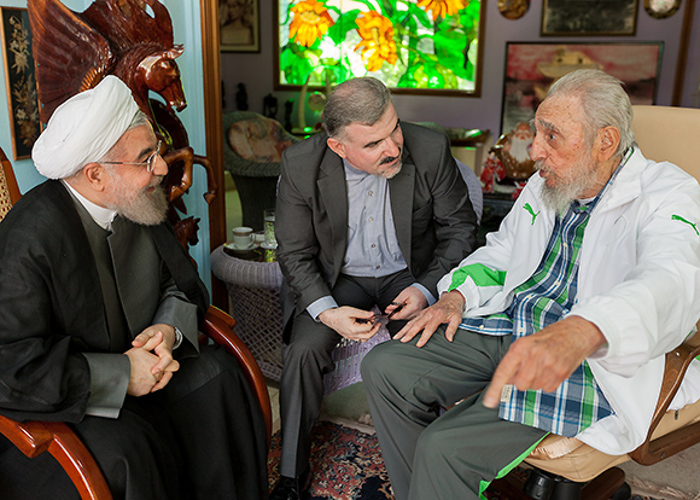 Fidel and President of Iran Hold Friendly Meeting