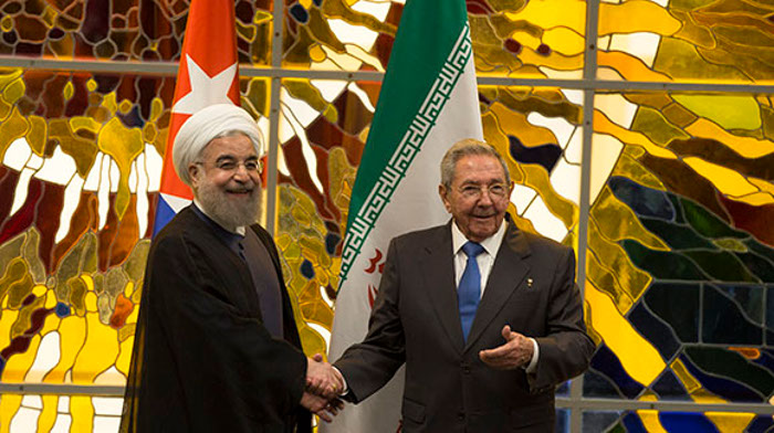 Raul Receives the President of the Islamic Republic of Iran