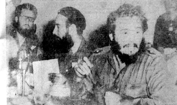 Fidel and Gayol in Martí´s footpath