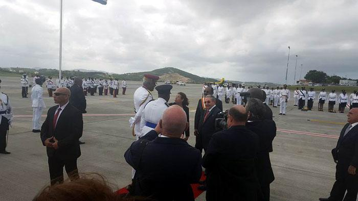 Raul Castro in Antigua and Barbuda for Summit