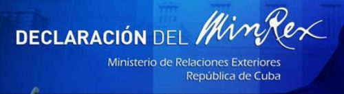 Cuba Foreign Ministry on Most-recently Thwarted Anti-Cuba Provocation