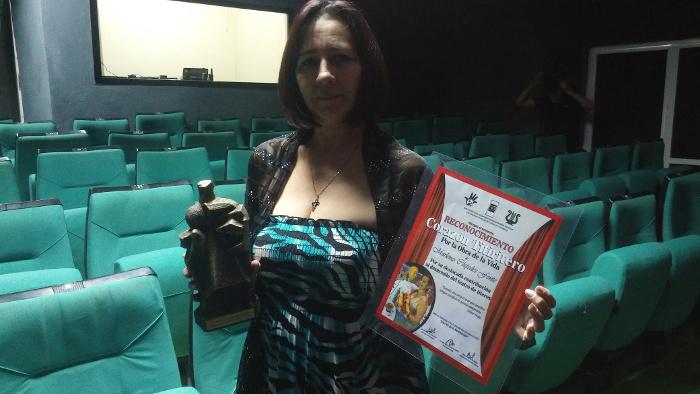 Marlene Céspedes Fonte, directora del grupo de teatro Olga Alonso.