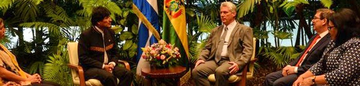 Cuban president receives Evo Morales