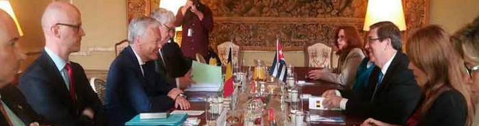 Cuban Foreign Minister thanks Belgian support