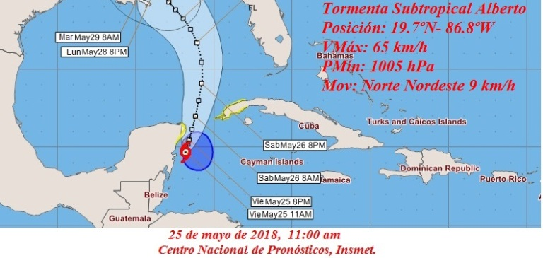 Alberto: First tropical storm of 2018 forms south of Cuba