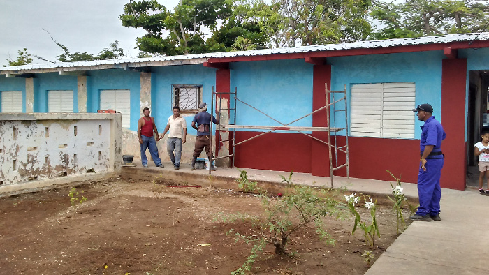 Recovered almost all of the schools affected in Camagüey by Hurricane Irma