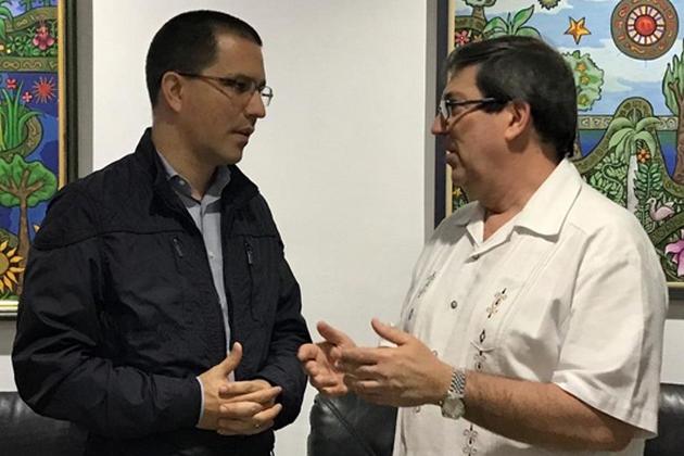 Bruno Rodríguez recibió a Canciller venezolano